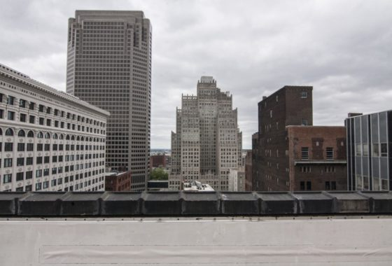 View from the rooftop at 1010 St Charles Street, St Louis MO